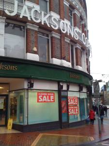 Jacksons department store, Reading, late 2013.