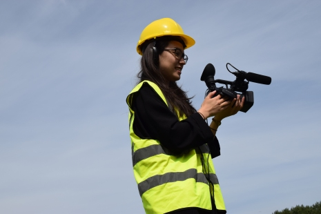 Yvonne filming the project (photo Nozomi Tolworthy)